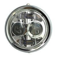 6.5'' 45W 4000LM Moto Chrome Phare Projecteur LED Headlight Lamp Bobber Chopper
