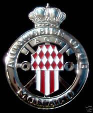 Car Badge - Automobile Club Monaco Grill badge emblem enamled logo badge