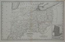 Original 1832 Map INDIANA OHIO MICHIGAN TERRITORY Cincinnati Indian Tribes Forts