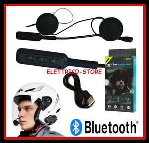 INTERFONO HEADSET MICROFONO AURICOLARE BLUETOOTH IMPERMEABILE PER CASCO MOTO MP3