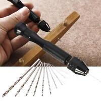 11 Pcs/Set Precision Pin Vise Bit Mini Hand Drill Chuck Micro Twist Drill CO