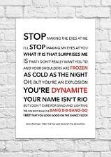 Arctic Monkeys - I Bet That You Look Good... - Song Lyric Art Poster - A4 Size