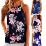 Summer Womens Sleeveless Floral Tank Tops Beach Casual Loose Blouse Vest T-shirt