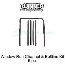 1982 - 1994 Chevy S10 / S10 Blazer Window Run Channel & Beltline Kit - 6 pc.