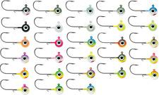 VMC Neon Moon Eye Round Head Jig Walleye, Bass, Perch, and Panfish Jig Tackle