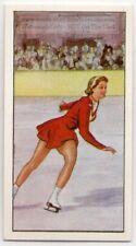 Figure Skating Carol Heiss Usa 1960 Olympic Gold Medalist Vintage Trade Ad Card