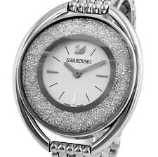 $399 Swarovski Crystalline Oval White Woman Bracelet Watch 5181008 CRACKED GLASS