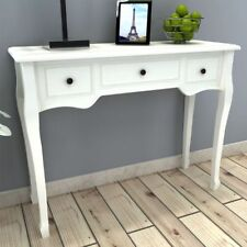 Shabby Chic Console Table Side End Wooden Dressing Hall Writing Desk 3 Drawers