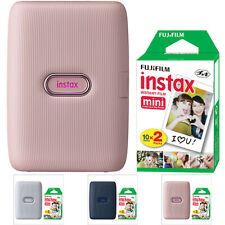 FUJIFILM INSTAX Mini Link Fuji Smartphone Printer All Colors + 20 Film Sheets