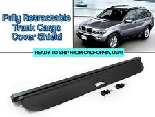 Not for Adjustable Backseat Models for 00-06 BMW E53 X5 Black Trunk Cargo Cover