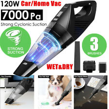 3IN1 7000Pa Cordless Car Home Handheld Vacuum Cleaner Wet & Dry Vac Hoover 120W
