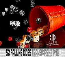 50 CASINO DICES FALLING TRANSPARENT PNG PHOTOSHOP OVERLAYS BACKDROPS BACKGROUNDS