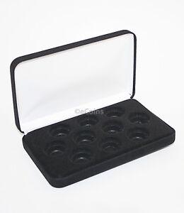 Black Felt COIN DISPLAY GIFT METAL PLUSH BOX holds 10-Quarter or Presidential $1