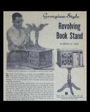 REVOLVING BOOK STAND Case END TABLE Georgian 1958 How-To build PLANS