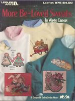 More Be Loved Waste Canvas Cross Stitch Patterns 1990 Leisure Arts 875 Cat Bunny