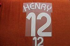 Flocage HENRY pour maillot équipe de France bleu patch shirt *