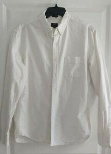 J.Crew Men's Long Sleeve Button-down Oxford Shirt - Slim - Size L