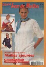 Catalogue Diana Jeux de Mailles No 45. Mailles Ajourées Motifs Feuilles TRICOT