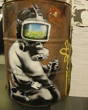 Banksy Gas Mask Boy 8 x 10 inch Canvas Print Street Art Graffiti