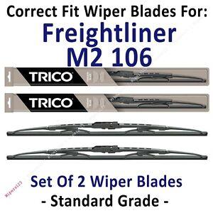 Wiper Blades 2-Pack Standard - fit 2001-2018 Freightliner M2 106 - 30221x2