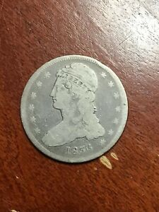 1836 CAPPED BUST HALF DOLLAR REEDED EDGE RARE DATE AFFORDABLE GRADE GOOD
