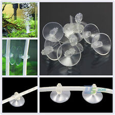20 Pcs Aquarium Fish Tank Suction Cups Suckers Clips Pads Air Line Pump Tube