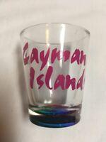 Cayman Islands Souvenir Shot Glass 1oz Multi Color Base a901