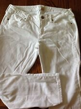 Teen Girls Junior Ankle White Jeans SZ 11 Arizona Jeans Brand