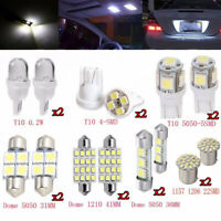 14pcs Set Car Interior Lights White LED Bulbs T10 & 31mm Map Dome License Plate