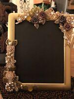 Picture frame Vintage Jewelry Gold 8x10 black felt Elegant Fancy Ornate Wedding