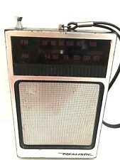 Radioshack Realistic AM/FM Handheld Transistor Radio Vintage Rare Working 12-714