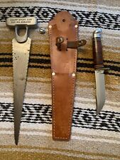 Vintage Knapp Sport Saw/Western USA L66 Bowie Hunting Camping Survival W/Sheath