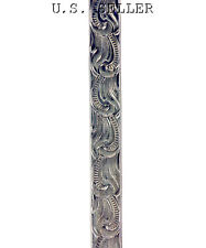 Scroll Patterned Nickel Silver Wire 3 Foot Package 5mm Wide