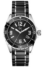 NEW GUESS COLLECTION GC SPORT CLASS XL BLACK CERAMIC SS MEN WATCH X85008G2S DATE