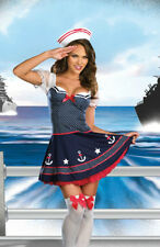 Ship Happens Halloween Pin Up Sailor Adult Dress Costume 2 Pcs Set Gift SMALL