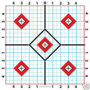 100 Yard Rifle Paper Target-Great for Sighting in Scope-Fast Free shipping