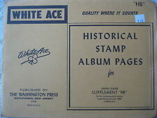 "1980 WHITE ACE STAMP ALBUM SUPPLEMENT "" HB "" USA COMMEMORATIVE BLOCKS OF 4"