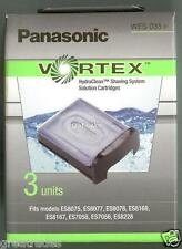 NEW PACK OF 3 PANASONIC WES035 VORTEX Shaver Cleaning CARTRIDGES!