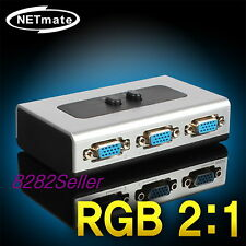 2 Port Monitor Switch Manual Selector Box RGB Splitter VGA 2:1 QWXGA 2048X1152