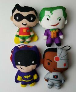 Lot Of 4 McDonalds Promotional Plush DC Superheroes Toys