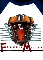 FRANKIE MILLER 1982 STANDING ON THE EDGE TOUR JERSEY-STYLE LARGE TEE T SHIRT