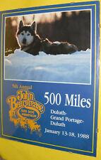 RARE John Beargrease Sled Dog Race 1988 Poster Duluth - Grand Marais MN See!