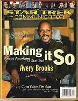 STAR TREK COMMUNICATOR MAGAZINE APR-MAY 1998 AVERY BROOKS COVER