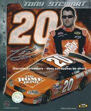 TONY STEWART SMOKE HOME DEPOT JOE GIBBS RACING REPLICA SIGNED NASCAR PHOTO #01