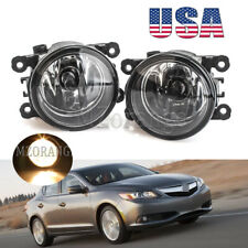 Fog Light For Acura ILX 2013 2014 2015 PAIR Bumper Replacement Clear Lens L/R US