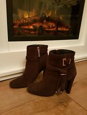 River island Purple Brown Ankle Boots Size 4