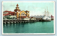 Venice, CA   AUDITORIUM & SHIP HOTEL CABRILLO WIDE PIER VIEW POSTCARD