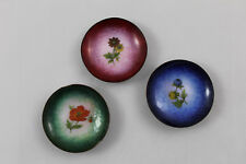 Set 3 Platitos decorativos de metal en miniatura VINTAGE.   6cm de diametro