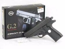 "New 6.5""  METAL G2 Airsoft Pistol Hand Gun w/ BBs 200fps Air Soft Black Heavy"