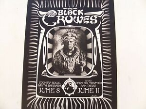 Black Crowes County Bowl SB/Open Air Theater SD poster AA40